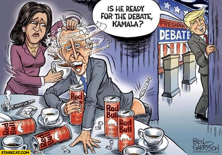 Biden drugged Trump asks: is he ready for the debate Kamala?
