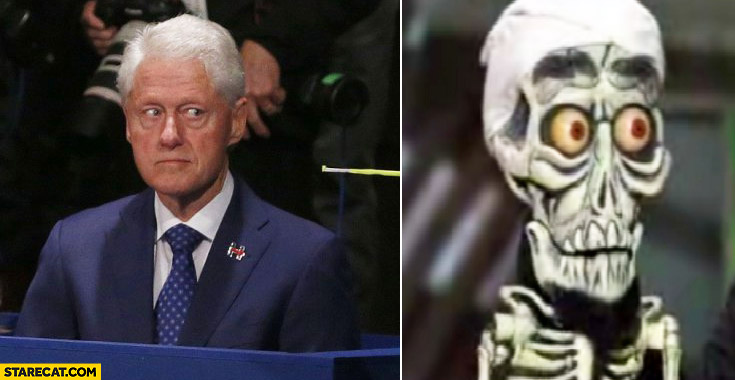 Bill Clinton looking like Ahmed the dead terrorist