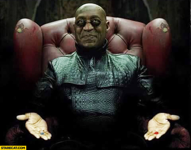 Bill Cosby Morpheus blue pill red pill
