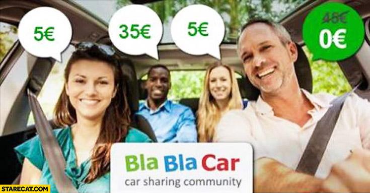 Blablacar AD black man trolling price