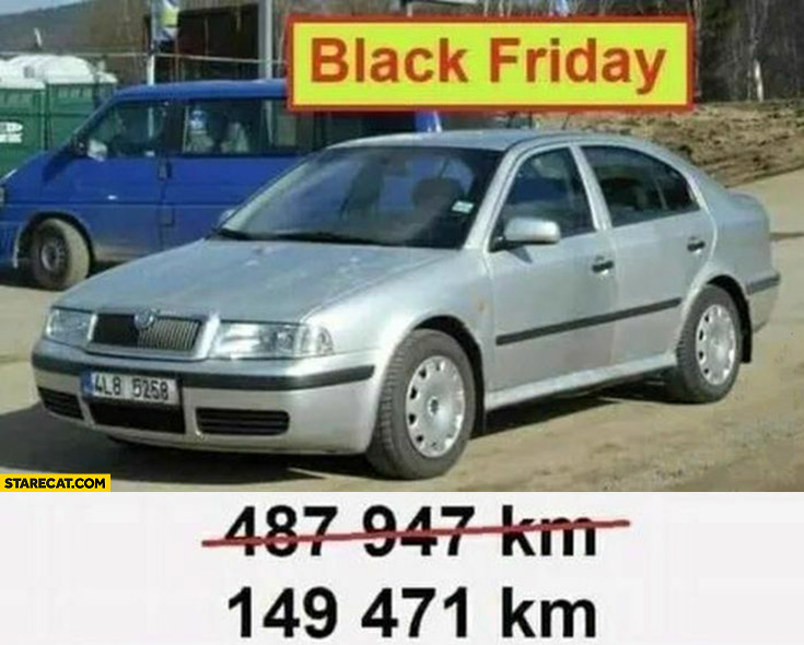 Black friday lowered mileage of a car