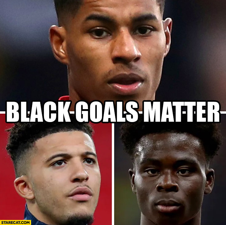 Black goals matter Euro 2020 finals England missed penalties Rashford Sancho Saka