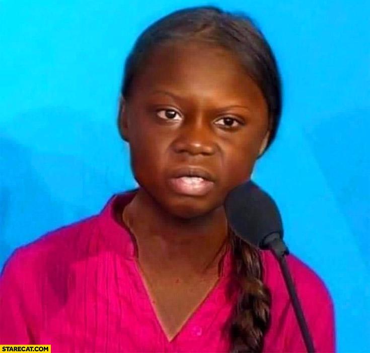 Black Greta Thunberg photoshopped