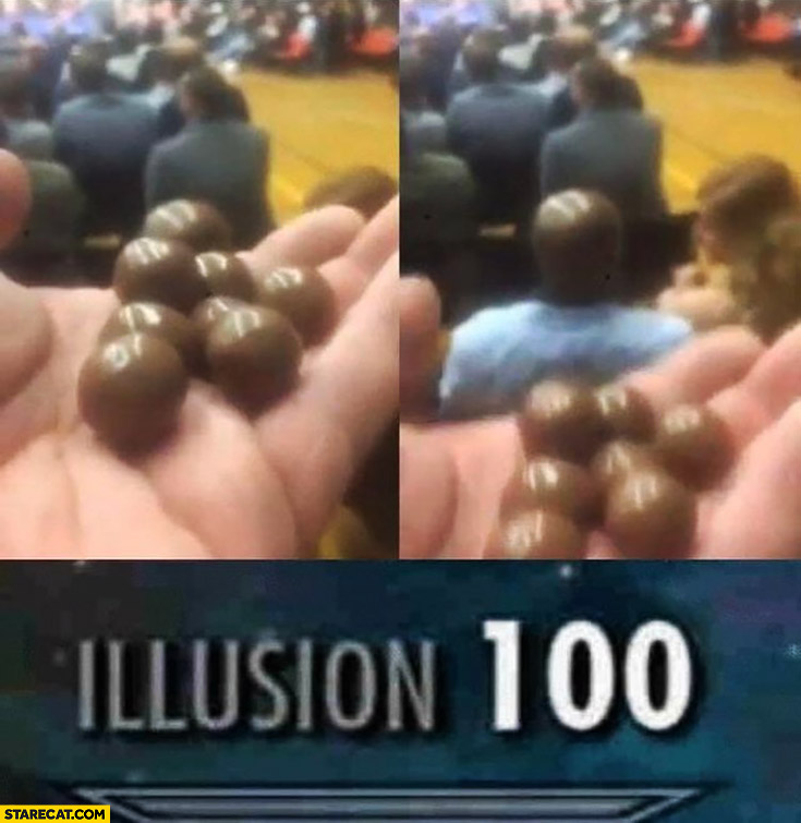 Black head like chocolate balls illusion 100