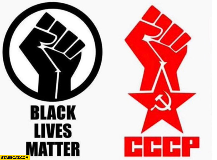 Black lives matter logo just like CCCP Russian communist logo
