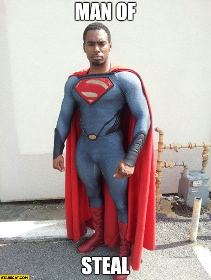 Black Superman man of steal