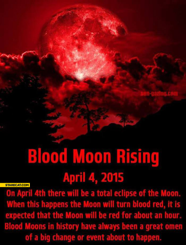 Blood moon rising April 4th 2015