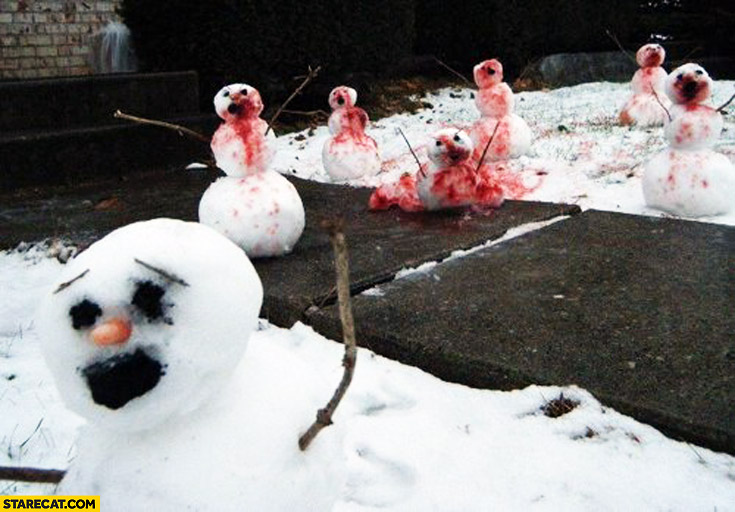 Bloody snowmans zombie