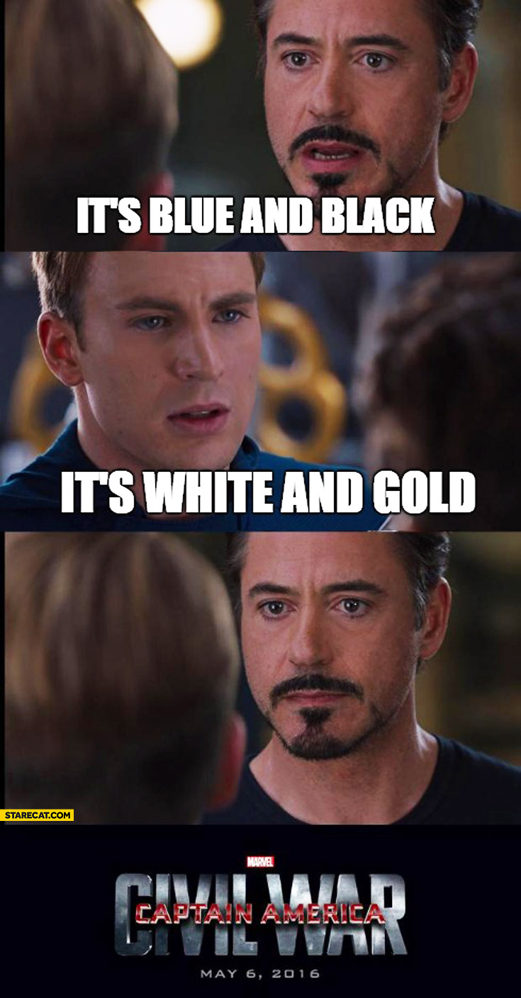 Blue and black gold and white Captain America Civil War