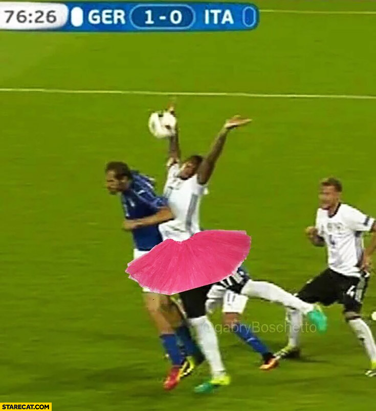 Boateng doing ballet dance Euro football match Germany Italy
