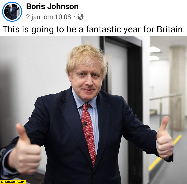 Boris Johnson on facebook: this is going to be a fantastic year for Britain
