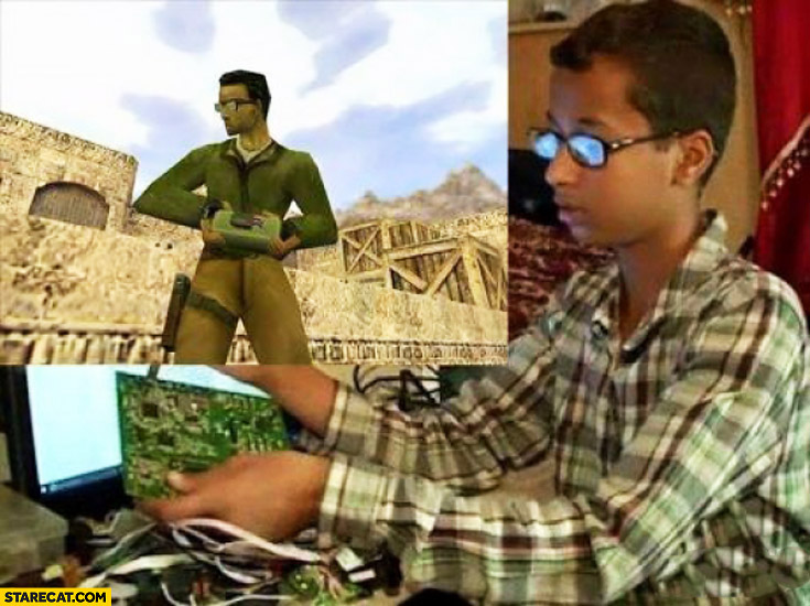 Boy that created bomb clock looking like Counter-Strike terrorist