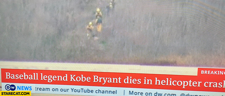 Breaking news baseball legend Kobe Bryant dies