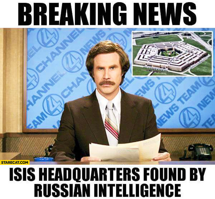 Breaking news ISIS headquaters found by Russian intelligence Pentagon