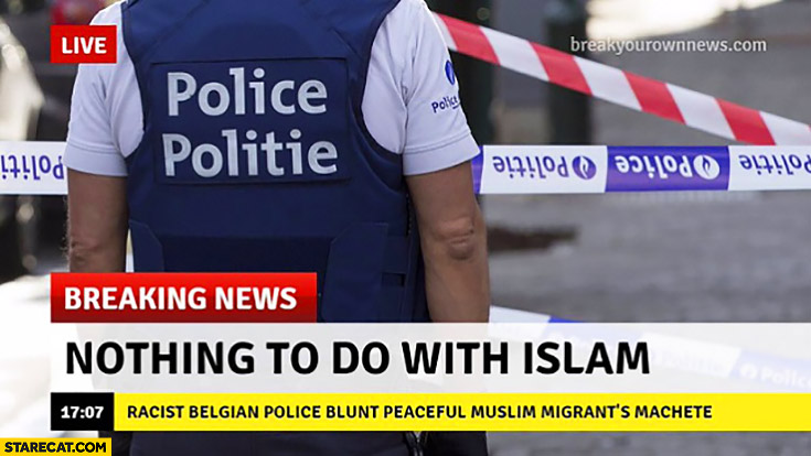 Breaking news: nothing to do with islam
