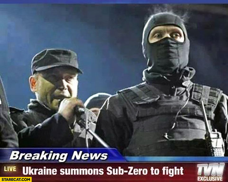 Breaking news: Ukraine summons Sub-Zero to fight