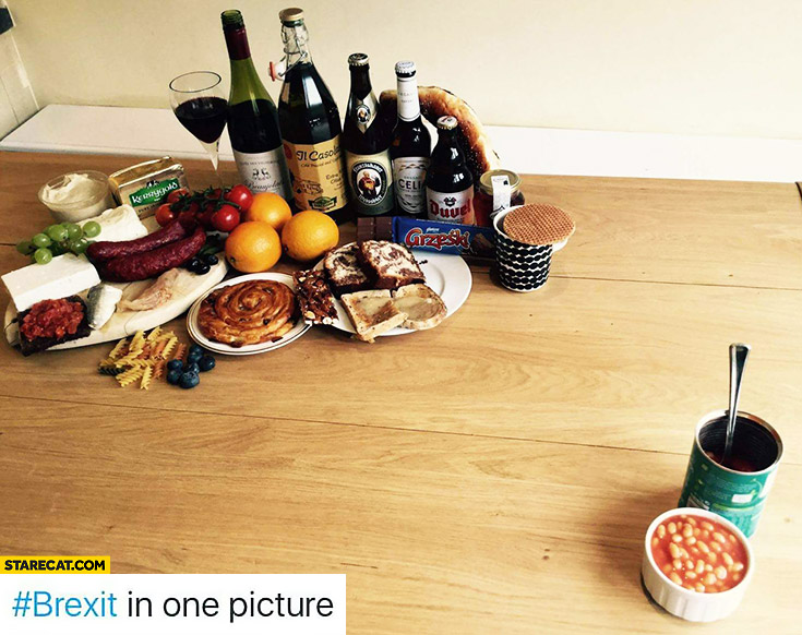 Brexit in one picture: european food, baked beans