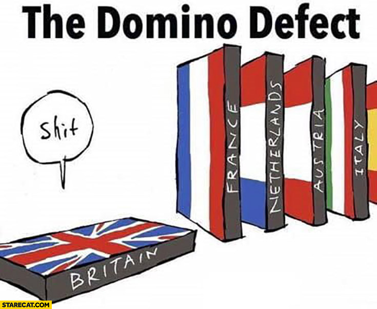 Brexit the domino defect vs effect fail
