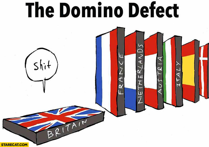 Brexit the domino effect only United Kingdom left shit