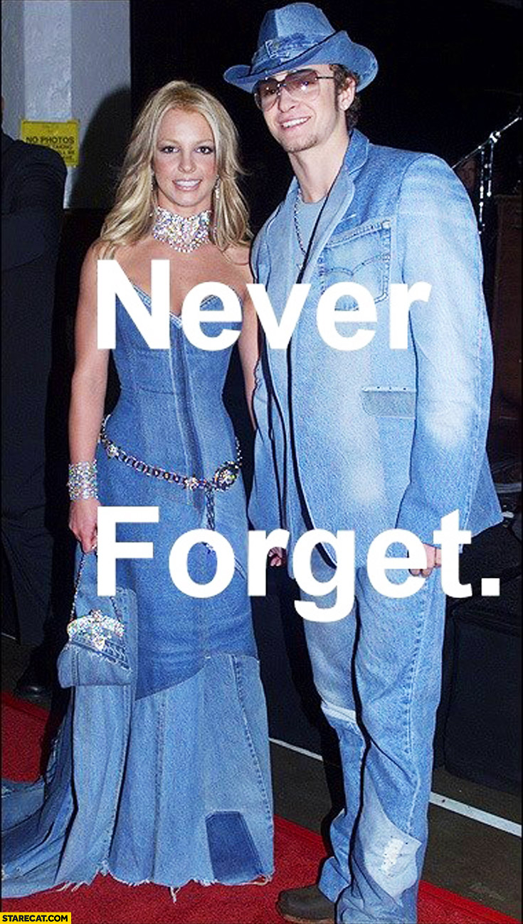 Britney Spears Justin Timberlake wearing jeans never forget