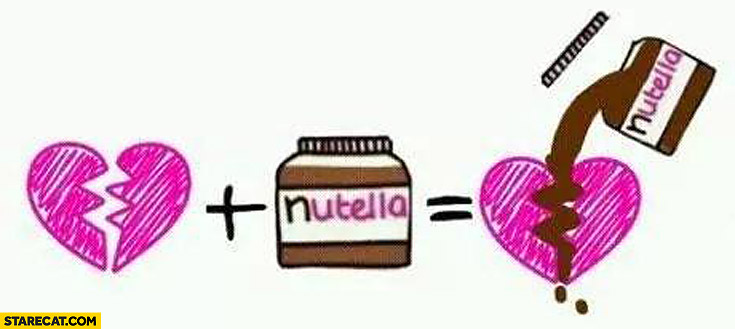 Broken heart plus Nutella filled by