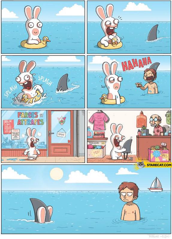 Bunny shark revenge fail