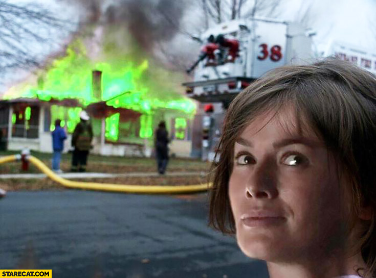 Burning house Cersei Lannister meme Game of Thrones
