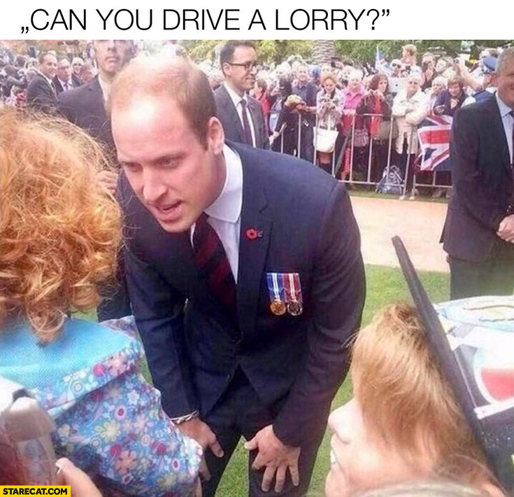 Can you drive a lorry? Prince William asking kids