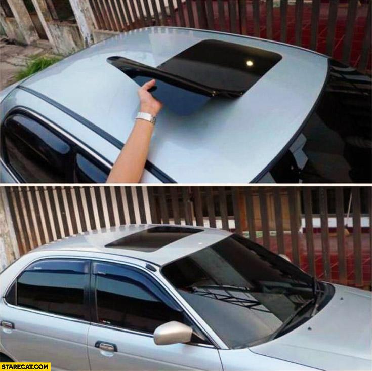 Car fake solar roof sticker