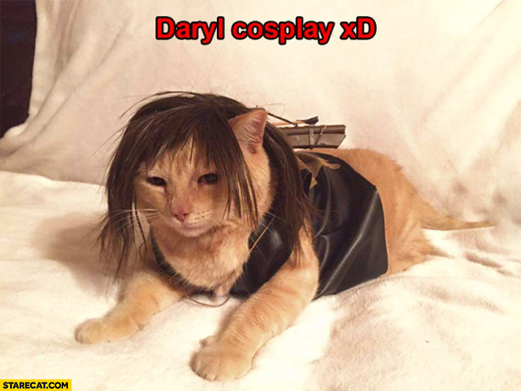 Cat Daryl Dixon cosplay The Walking Dead