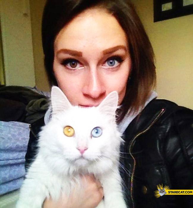 Cat girl heterochromia