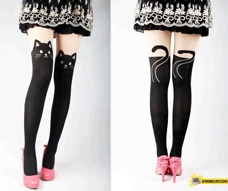 Cat stockings for women