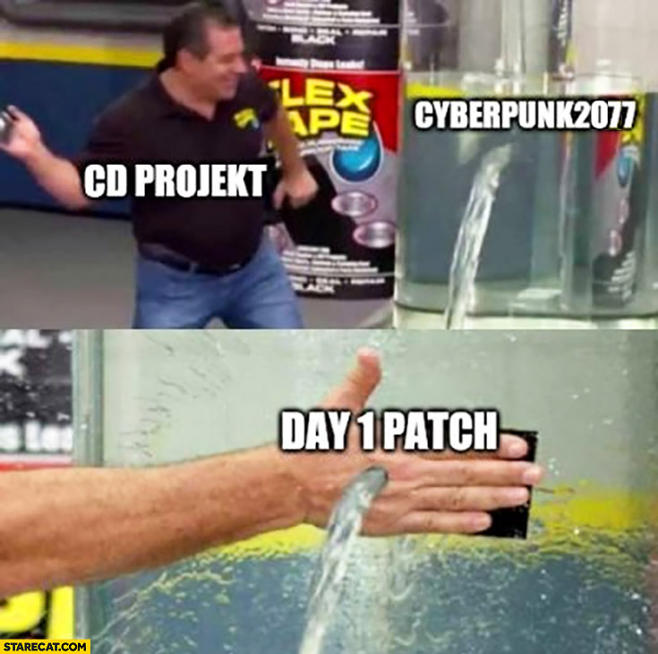 CD Projekt leaking Cyberpunk 2077 day 1 patch still leaking