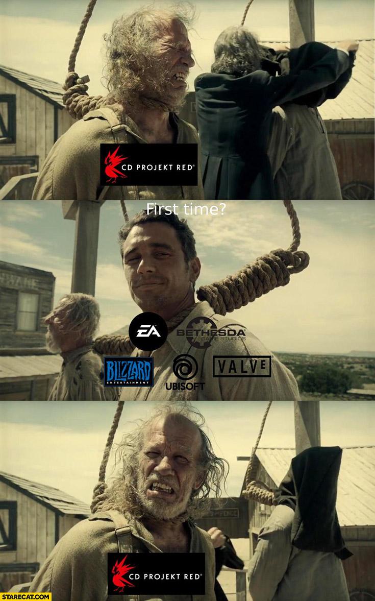 CD Projekt Red hanging first time? EA, Blizzard, Valve, Bethesda, Ubisoft