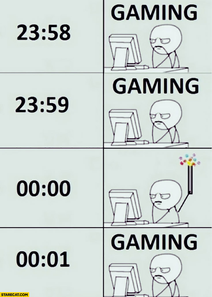 Celebrating New Year gaming