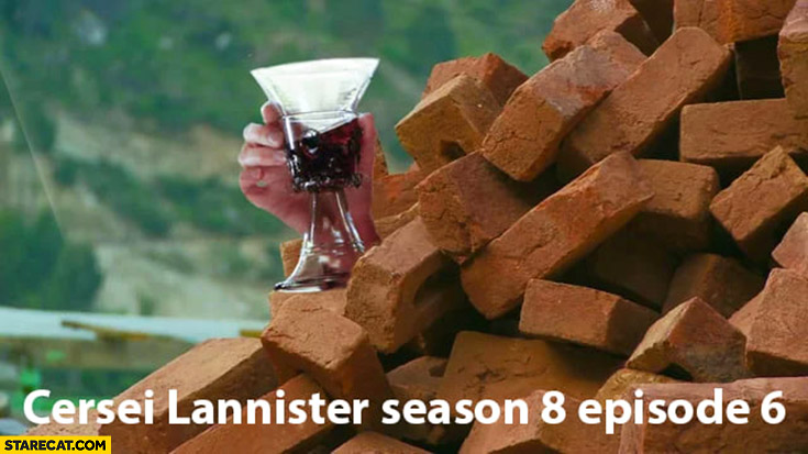 Cersei Lannister season 8 episode 6 under bricks Game of thrones