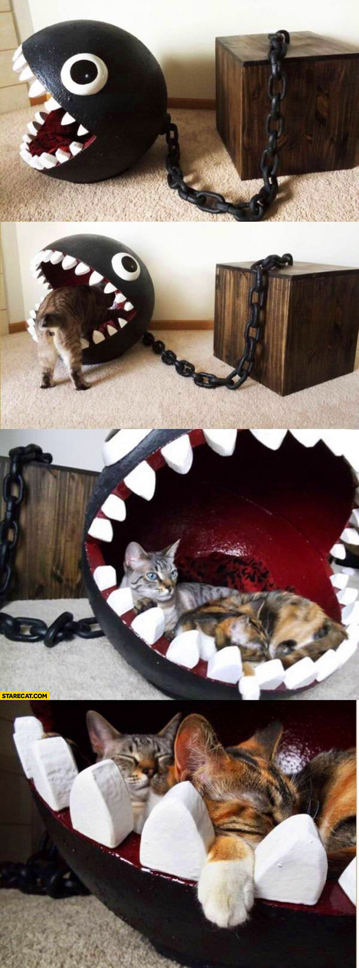 Chain Chomp kitty bed creative for cats