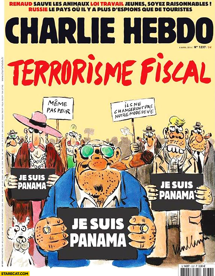 Charlie Hebdo fiscal terrorism. Je suis Panama