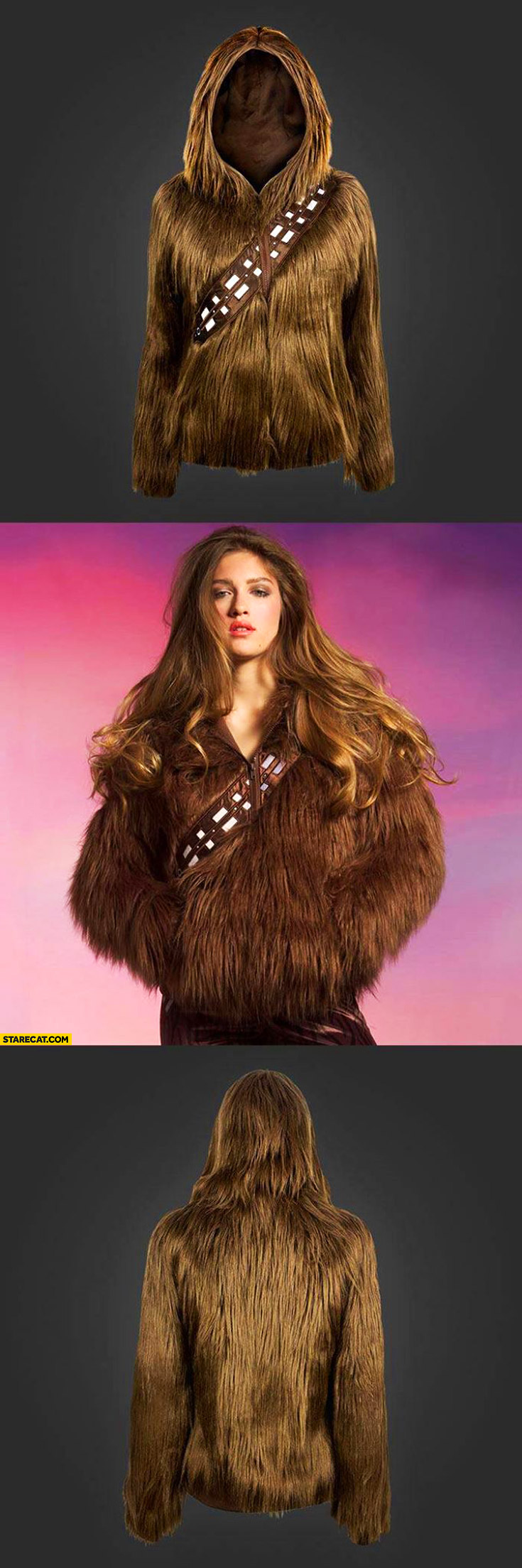 Chewbacca fur woman's jacket