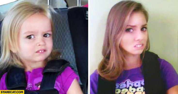 Chloe meme then and now cute girl going to Disneyland