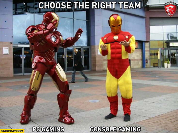Choose the right team: PC gaming, console gaming comparison Ironman