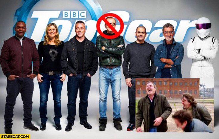 Chris Evans is out of Top Gear Clarkson, Hammond & May laughing