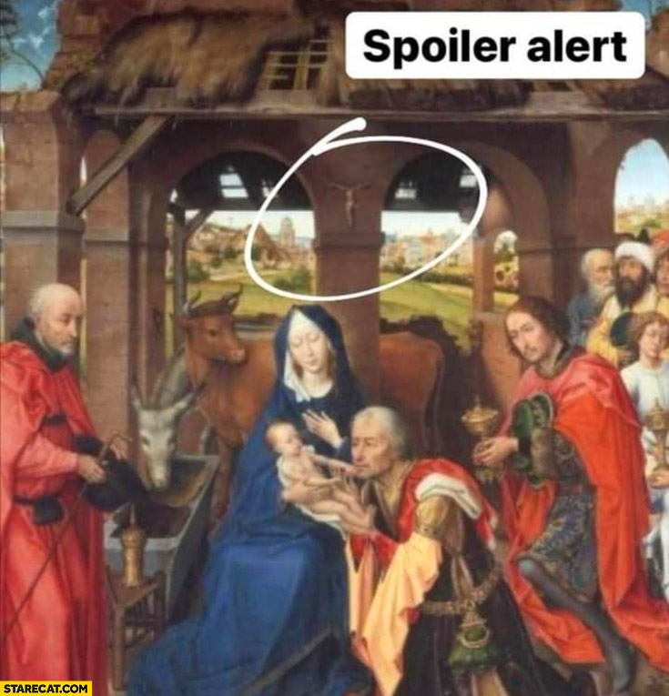 Christ born spoiler alert crucification on the wall