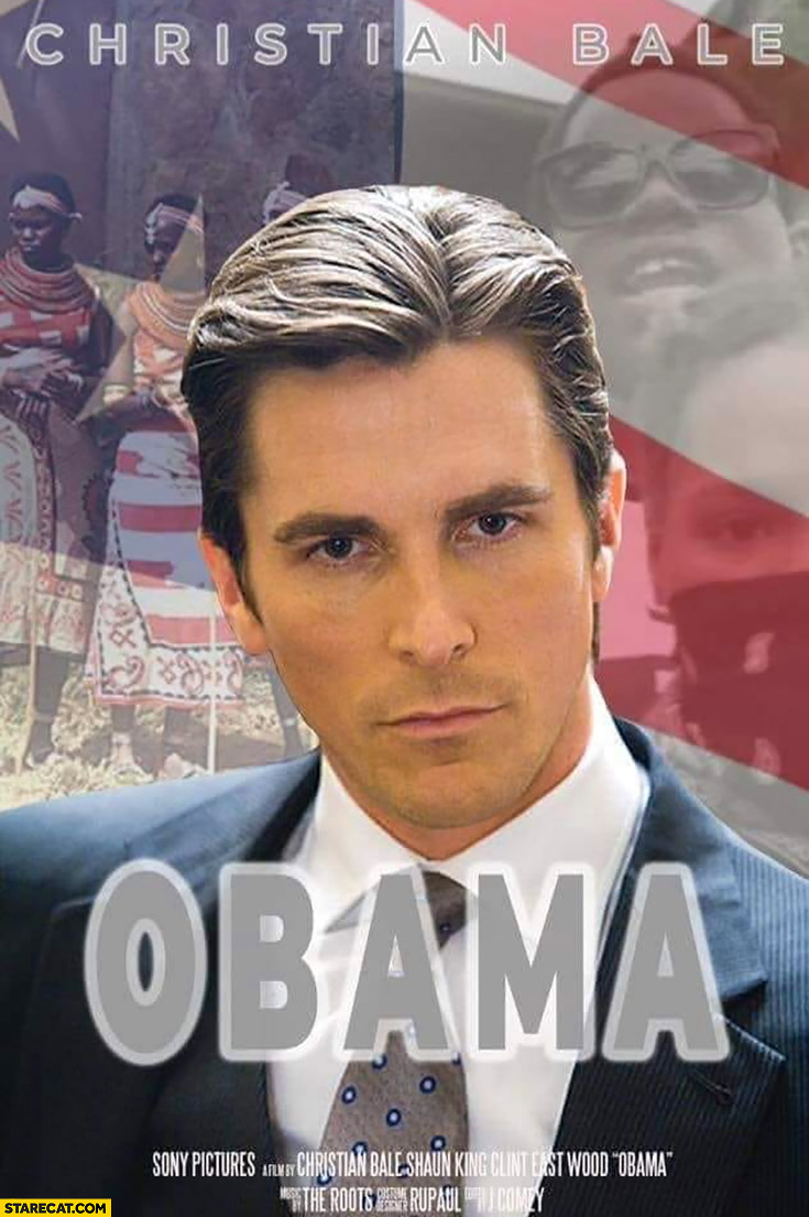 Christian Bale Obama movie poster photoshopped