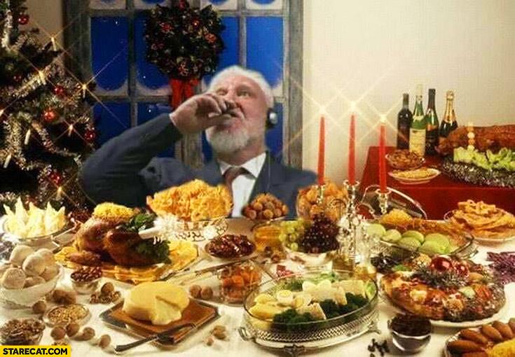 Christmas toast cheers Slobodan Praljak drinking poison