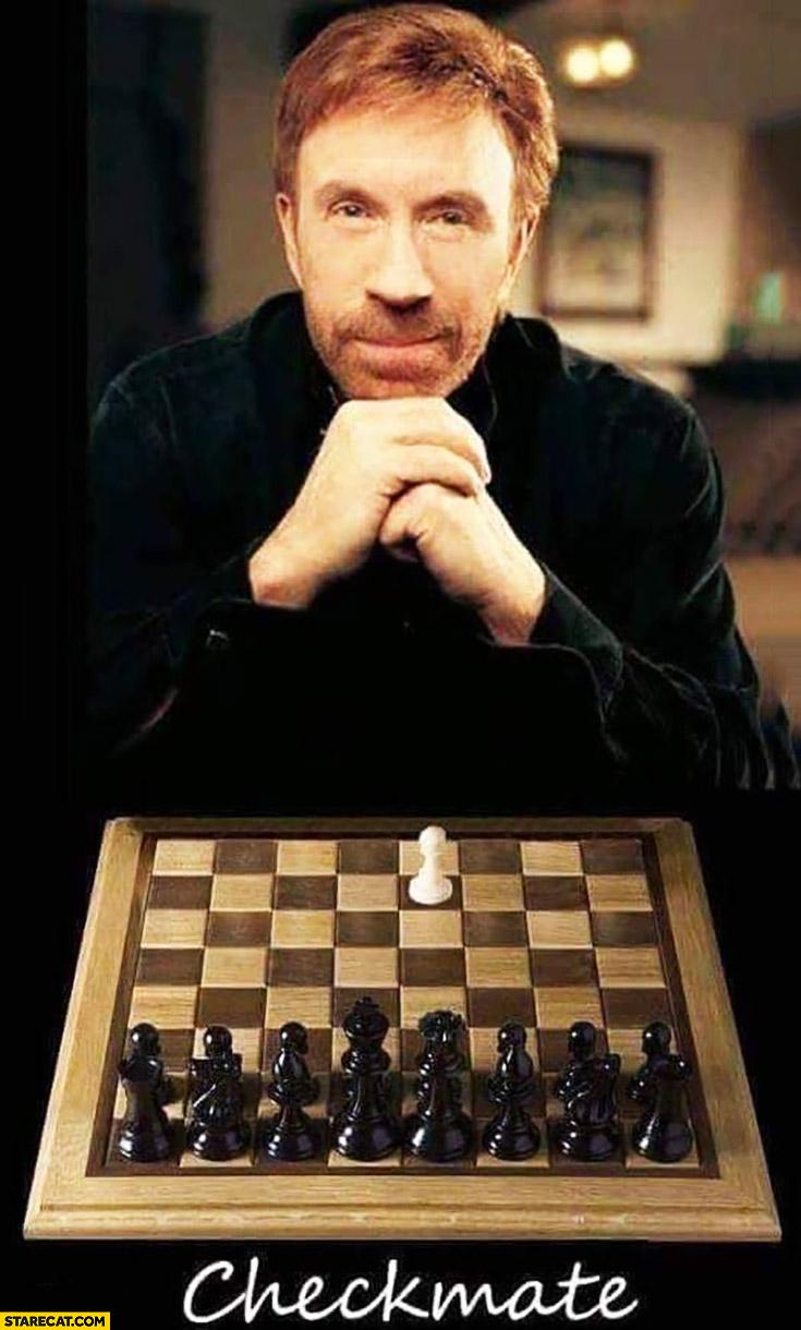 Chuck Norris chess checkmate with only one pawn