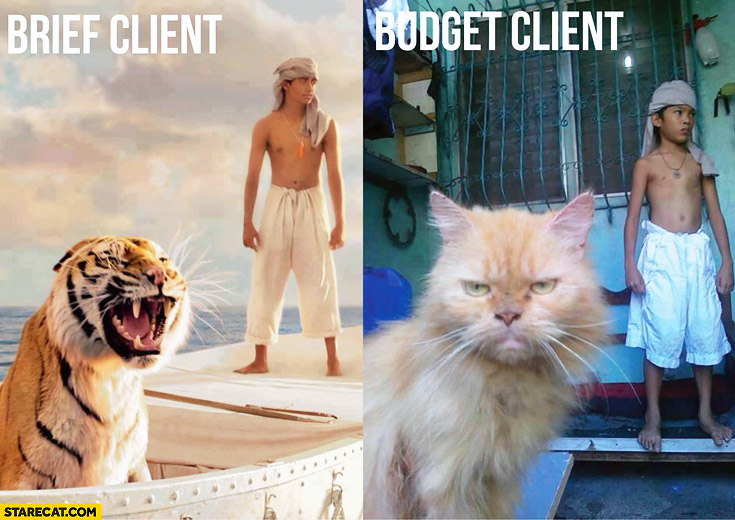 Client brief expectations client budget