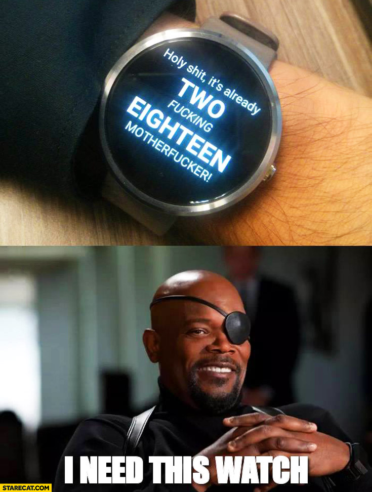 Clock with swear curse words time holy shit I need this watch