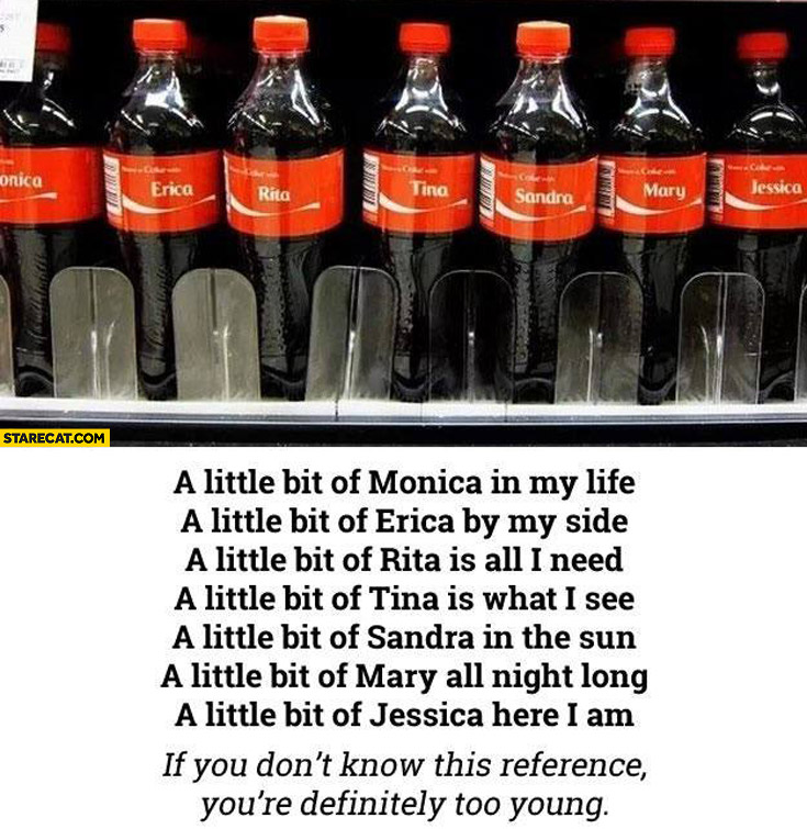 Coca-Cola names Mambo No 5 song: Monica, Erica, Rita, Tina, Sandra, Mary, Jessica