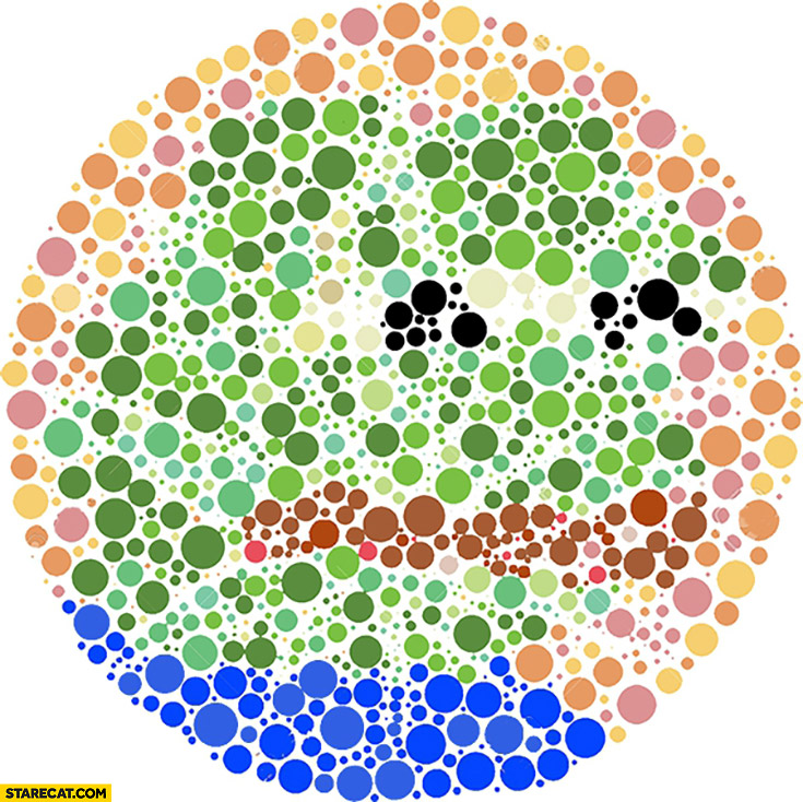 Color blindness test Pepe the frog meme